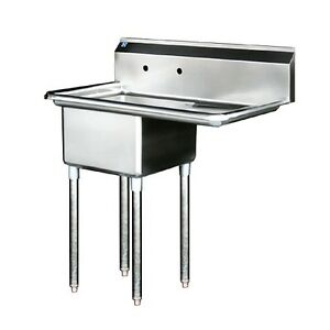 Stainless Steel Prep Sink Right