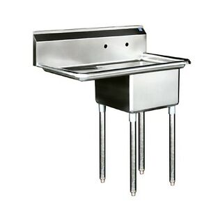 Stainless Steel Prep Sink 1 Comp Sink 18 Left Db
