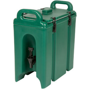 New 2 5 Gallon Green Insulated Coffee Tea Hot Cold Catering Beverage Dispenser