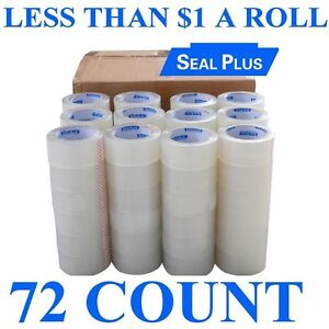 72 Roll 2x110 330 Ft Clear Box Carton Sealing Packing Package Tape 2 Mil Hotmelt