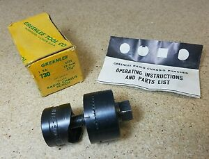 Greenlee Knock Out Punch 1 5 32 No 730 Radio Chassis