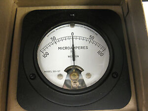 Daystrom Weston 301 57 Dc Micro amperes Panel Voltmeter 0 100