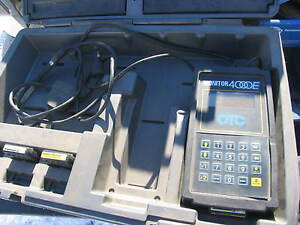 Otc Monitor 4000e Diagnostic System Scan Tool Cables Manuals Case