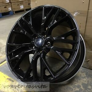19 20 Gloss Black C7 Z06 Style Wheels Rims For 2014 C7 Stingray Corvette Base