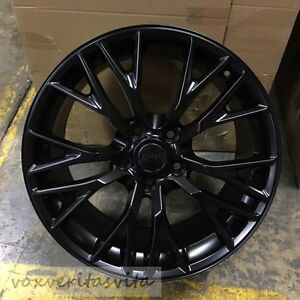 19 20 Satin Black C7 Z06 Style Wheels Rims For 2005 2013 C6 Corvette Base Z51