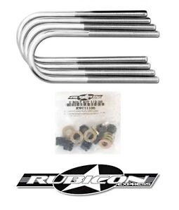 Rubicon Express Front U Bolt Kit Dana 30 For 1987 1995 Jeep Wrangler Yj Re2420
