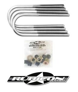 Rubicon Express Front U Bolt Kit For Dana 30 1987 1995 Jeep Wrangler Yj Re2420