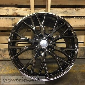 19 20 Black Chrome C7 Z06 Style Wheels Rims For 2005 2013 C6 Corvette Base Z51