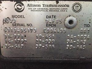 Allison Transmission 2000 In Stock | Replacement Auto Auto Parts