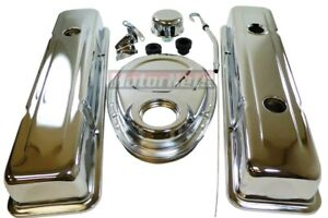 1978 86 Small Block Chevy Chrome Short Engine Dress Up Kit Sbc Valve Cover Timin