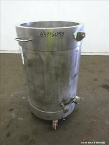 Used Tank Approximate 50 Gallon 304 Stainless Steel Jacketed Vertical 24
