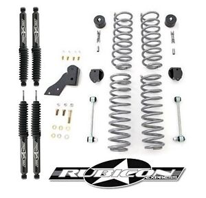 Rubicon Express 2 5 Lift Kit With Shocks For 2007 2018 2 door Jeep Wrangler Jk
