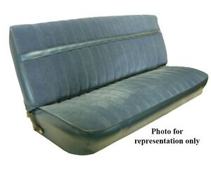 1973 80 Chevy Gmc Std Cab Front Bench Seat Upholstery Vinyl Encore Velour
