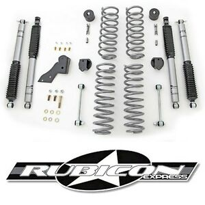 Rubicon Express 2 5 Lift Kit With Shocks For 2007 2018 4 Door Jeep Wrangler Jk
