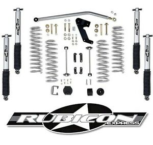 Rubicon Express 3 5 Lift Kit With Shocks For 2007 2018 4 Door Jeep Wrangler Jk