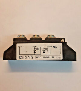 Mcc56 14io1b Ixys Thyristor Module 56amp 1400v Used But Tested 100
