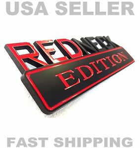Redneck Edition Car Truck Acura Honda Emblem Logo Decal Blk Red Sign Badge