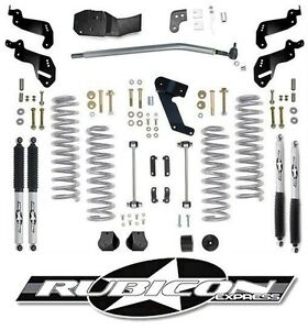 Rubicon Express 3 5 Sport Lift Kit With Shocks For 07 18 4 Door Jeep Wrangler