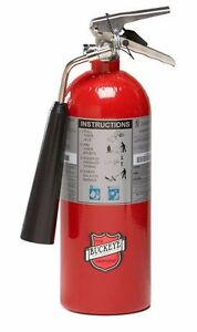 New 2018 Buckeye 5 lb C02 Fire Extinguisher Certified With Wall Mount
