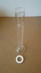 Lot Of 9 Corning Pyrex 250ml Glass Graduated Cylinders No 3024 Pourout Top