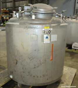 Used Precision Stainless Reactor 300 Gallon 316l Stainless Steel Vertical 4