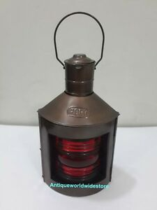 Metal Port Lantern Ship Oil Lamp Nautical Maritime Boat Light