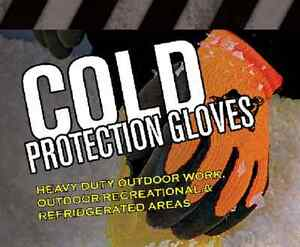 Pip Brahma 6 Pair large heavyduty Safety Microgrip Winter Insulated Work Gloves