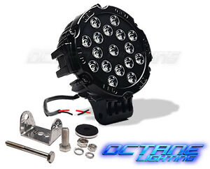 7 51w Round Black Housing Spot Beam Cree Led Off Road Truck Jeep Work Fog Light