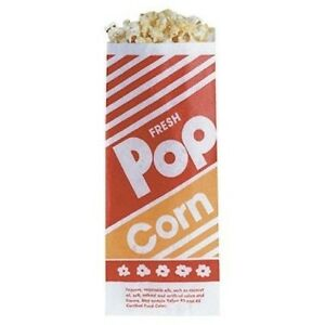 Gold Medal Popcorn Paper Bags 1 Oz 100 Count