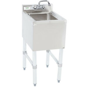 1 Bowl Underbar Stainless Steel Hand Wash Sink W faucet Commercial Nsf Under Bar