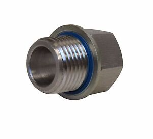 New 304 Stainless Adapter 1 2 Npt Female X 1 2 Bspp Male W Sealing Washer New