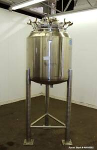 Used Dci Reactor 300 Liter 79 25 Gallon 316l Stainless Steel Vertical App