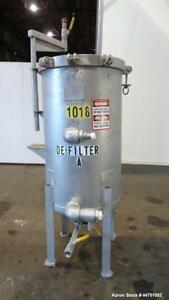 Used American Plant Equipment Pronto Vertical Plate Filter 304 Stainless Steel
