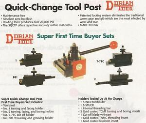 Dorian Quick Change Tool Post Set Axa Up To 12 New