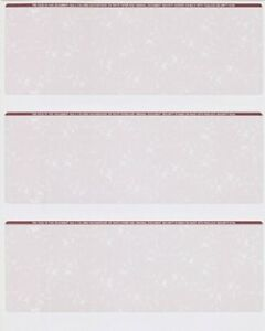 Blank Check Stock Paper 3 On A Page 500 Sheets 1500 Checks Marble Burgundy