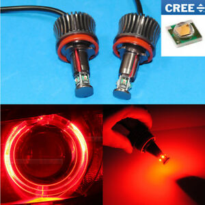 Hot Red 20w Cree Angel Eye Ring Marker H8 Led Lights For Bmw E70 E92 X5 X6