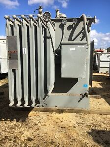 Westinghouse 2500 Kva 13 800 Primary 480y 277 Sec Substation Transformer qty 4