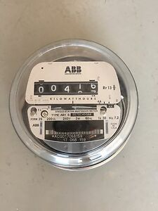 Abb Electric Watthour Meter Kwh Form 2s 200cl 240v