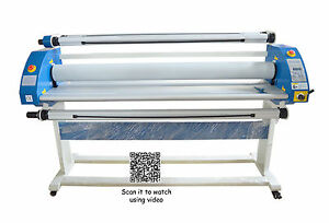 63in 1600mm Low Temperature Hot Cold Laminating Machine Us Stock Air Pump Lift
