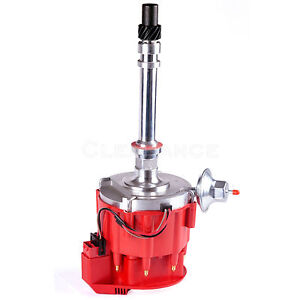 Sbc Bbc Chevy 305 350 454 V8 s Hei Distributor With Red Cap 65k 65 000 Volt