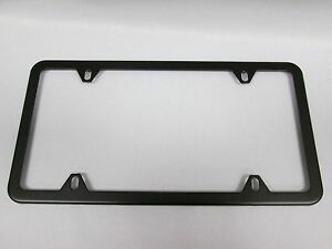Bmw License Plate Frame Stainless Steel Black Slimline 82120010399