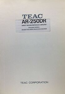 Teac Ar 250dr Amplifier Instruction Service Manual P n10111317 00