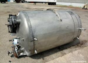 Used Tank 500 Gallon 304 Stainless Steel Vertical Approximate 48 Diameter
