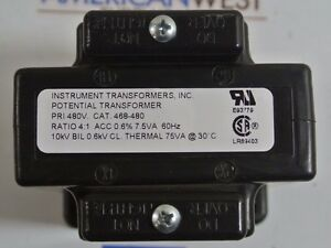 Instrument Transformers Inc Potential Transformer Cat 468 480 480v 4 1