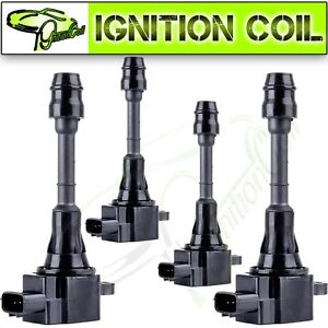 4 New Ignition Coil Pack For Nissan For Altima Sentra 2002 2006 L4 2 5l Uf350