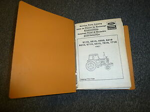 Ford New Holland 5110 5610 5900 6410 6610 Tractor Parts Catalog Manual Binder