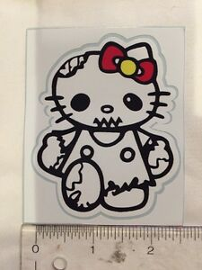 Zombie Hello Kitty Decal Sticker