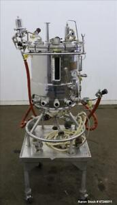 Used Biolafitte Reactor 63 Liter 16 6 Gallon 316 Stainless Steel Vertical