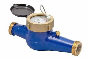 New Prm 1 1 4 Inch Npt Multi jet Cold Water Meter With Pulse Output Nib