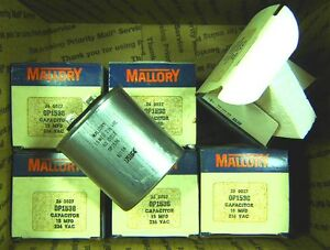Lot Of 6 New Mallory 15 Uf 236 Vac Capacitors Motor Start Nos Tested